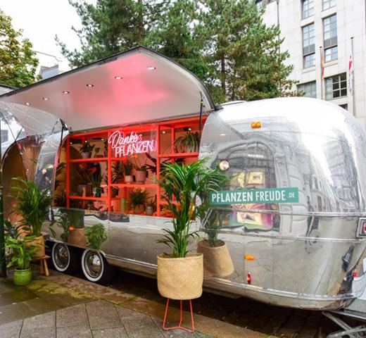 Airstream Danke Pflanzen in Duitsland