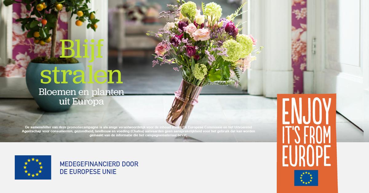 Gezamenlijke promotiecampagne Europese bloemen en planten