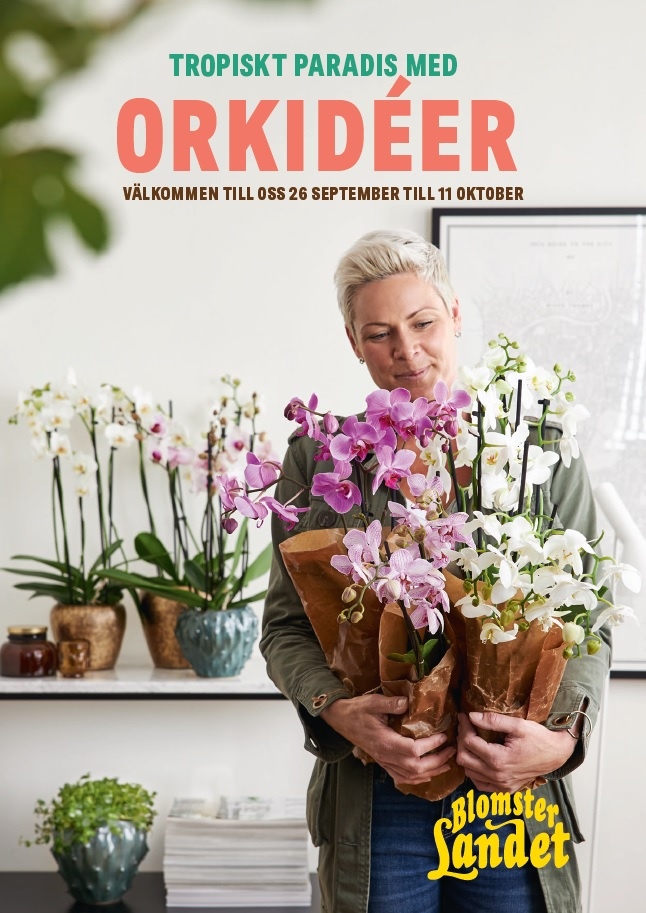 Blomsterlandet shopper activatie orchidee folder voorzijde
