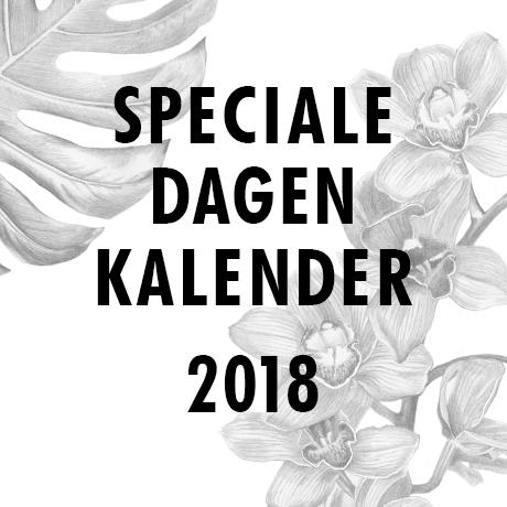Speciale dagen kalender 2018